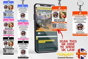 Assistance Dog UK Law Card with QR code to the equality act