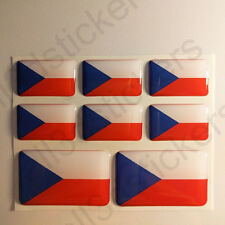 Pegatinas Republica Checa Pegatina Bandera Republica Checa Adhesivo 3D Relieve