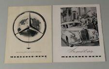 Mercedes Benz - 2x alte Reklame auf Papier aus den 1940er / 50er Jahren  /S326