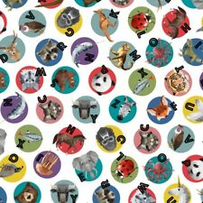 Fabric 100% Cotton Hoffman Digitally Printed Animal Alphabet
