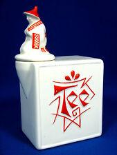 Rare Max Roesler Keramik pottery Art Deco design tea box / Tee Gefäß Wilken & Co