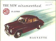 1954 MG Magnette Sales Brochure