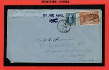 25c 1st quarter oz airmail rate to Colombia South America b/s Aug 1 1939 Canada