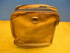 Leather Collapsible Carry Bag, In Excellent condition & all Zippers Work!