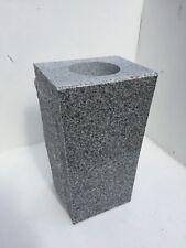 "Granite Memorial Vase 5"" x 4""x 9""  Gray Tapered"