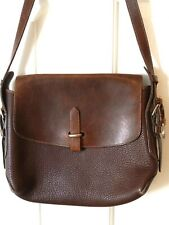 New listing Vintage Dooney And Bourke Brown Leather Flap Bag Crossbody Made in Usa