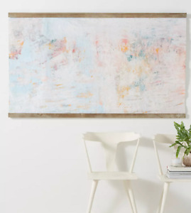 "NEW Anthropologie 63"" X 36"" Wallpaper Dowel Rosie Hanging Art Tapestry Decor"