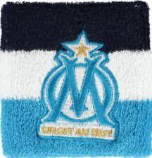 Schweißband 2 er Set Olympique Marseille Logo Schweißbänder - 8 x 9 cm