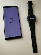 Samsung Galaxy Note8 - Midnight Black (Unlocked) Smartphone PLUS Samsung Gear S3