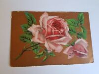 Greeting Postcard Vintage Red Rose