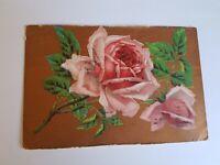 Greeting Postcard Vintage Red Rose