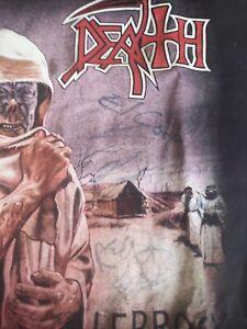 DEATH Leprosy shirt mit Pungent Stench Unterschriften Größe L