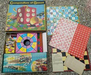 Vintage 1960s Berwick Compendium of Games No 2 - Boxed Board Family Retro
