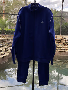 LACOSTE SPORT STAND-UP NECK FLEECE TRACKSUIT 4XL