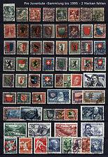 PRO JUVENTUTE  SAMMLUNG J1 bis 1995 - siehe 5 Scans mit  2 Blocks  (Y846 )