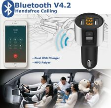 LCD Car Kit MP3 Player Bluetooth FM Transmitter Dual USB Charger For iPhone iPod