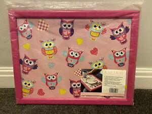 Laptray With Beanie Cushion - Owl Design - New