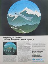3/1980 PUB GOULD ELECTRONICS GVS-1 VISUAL SYSTEM ROLAND DIVAD MIG-21 ORIGINAL AD