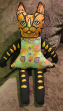 Cloth Doll, Ooak Artist Doll, Kitty Cat, All Hand painted, Collectible Handmade