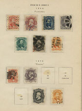 Brazil  lot   of  Dom Pedros on pages   used           MS1130