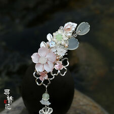 High Quality Chinese Classical Women Hair Clip Pink Shell Flower Tassel