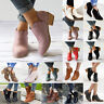 Women Ankle Boots Slip On Low Heel Block Chunky Booties Casual Work Office Shoes