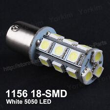 2PCS 1156 BA15S White 18 SMD LED Car Break Reverse Backup Tail Light Bulbs P21W