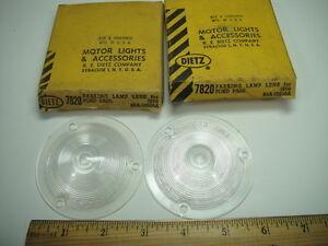 1959 Ford Galaxie Fairlane 500 Skyliner Ft Turn Signal Lenses Lens PR NEW