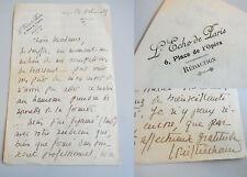 Écrivain Louis PIÉCHAUD (1888-1965): Lettre autographe PARIS 1929, signée
