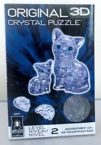 3D Crystal Cat Puzzle 49 Pieces