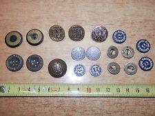 Lotto vecchi bottoni militari EXQUISIT MILITAIRES KING REGIMENT ROYAL NAVY CORPS