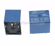 10PCS Mini DC5V Coil SRD-5VDC-SL-C 10A 250V 30VDC 125VAC 28VDC 5 Pin Power Relay