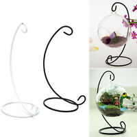 "23cm 9"" Iron Plant Stand Holder for Clear Glass Hanging Vase Home Decor、2018"