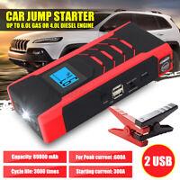 12V 89800mAh Diesel Vehicle Jump Starter Auto Car Battery USB Charger