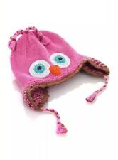 Pebble Girl Owl Hat Knitted 1 Year