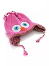 Pebble Girl Owl Hat Knitted 1 Year 6-12 Mths