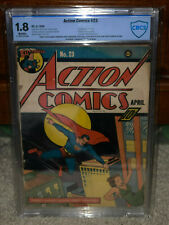 Action Comics #23 CBCS 1.8 DC 1940 1st Lex Luthor! Superman! Free CGC Mylar! cm