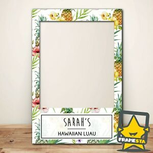 Hawaiian Party Decorations Photo Booth Frame Prop (60x90 cm) Instagram Facebook