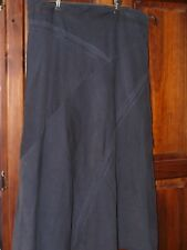 Chocolate Rivers Panelled Needlecord and Lined Skirt Ladies Size 14