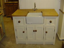 HANDMADE FREESTANDING BELFAST SINK UNIT.