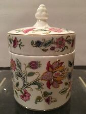 "Minton  HADDON HALL Candy Box with Lid 5"" T, 3.5"" W"