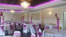 100 WEDDING CHAIR COVERS, 100 SASHES, 10 TABLE COVERS, HIRE ONLY