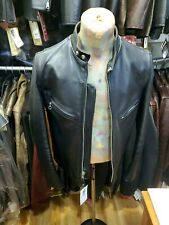 Schott Nyc RARE Leather Motorcycle Single Rider Jacket Steer Hides 641-XX-36