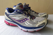 Saucony Omni 12 10206-1 Women's Gray Bright Purple/Citron Running Shoes size 10