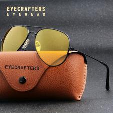 Day Night Vision Men's Sunglasses Driving pilot Classic Yellow Lens Sight Car