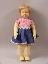 wi23/5  KRAMER Puppe  mit Holzkopf  70er Jahre