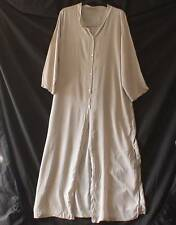 MADE in ITALY Lagenlook Slouch DUSTER COAT MAXI lunghezza Abalone pulsanti UK M