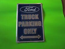 tin metal dealership home garage repair shop man cave decor ford truck parking