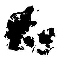 """2x Auto Aufkleber Dänemark """"DANMARK"""" Sticker Denmark 11cm Decal konturg. die-cut"""