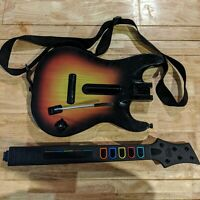 PS3 PlayStation 3 Guitar Hero Sunburst Red Octane Controller w/ Strap No Dongle